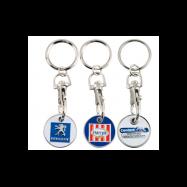 Porte-clés jeton métal