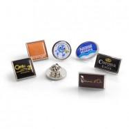 Pins en zamac carré, ractangle ou rond ou ovale