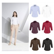 Chemise femme stretch manches 3/4