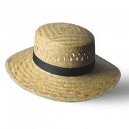 Chapeau en paille dorée CANNES