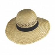 Chapeau en paille ajourée