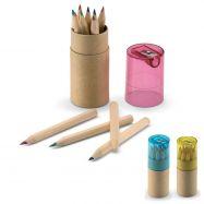 Boîte de 12 crayons de couleur avec taille-caryon