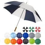 Parapluie grand golf manche bois droit