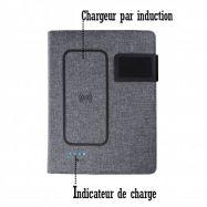 Carnet de notes A5 avec chargeur induction intégré INDUBOOK