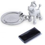 Porte-clés métal 3D chien HOINZO