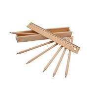 Plumier avec 6 crayons de...