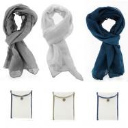 Foulard coton et lin  AIR