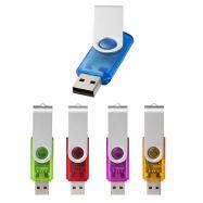 Clés USB pivotante transparente