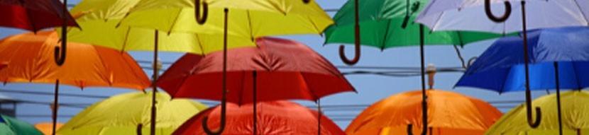 parapluies mini golf personnalisables - parapluie de ville publcitaire