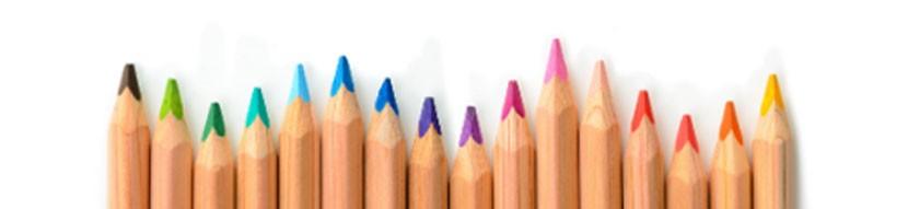 Crayons de couleur publicitaires